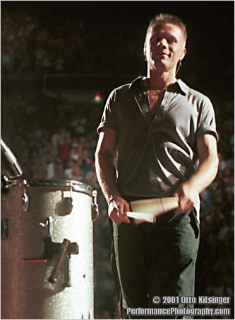 Live concert photo of Larry Mullen Jr